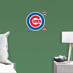 "Chicago Cubs Fathead Teammate Logo MLB 11"" X 11"" Baseball Officially Licensed"