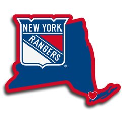 NHL New York Rangers Home State Repositionable Vinyl Decal Auto Car NEW!!!