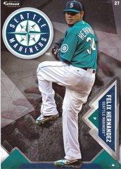 "2016 MLB FELIX HERNANDEZ Seattle Mariners Fathead Tradeable 5"" X 7"""