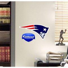 "NFL New England Patriots Fathead Teammate Logo NFL 14"" X 7"" Football"
