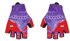 Colours of Assiniboine fingerless padded cycling glove