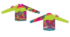 Neon Green Armchair Men's Quarter Zip Long Sleeve