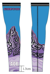 Purple Blue Black Tusk Arm Warmers Summer Weight