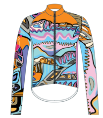 Glorious Ladies Thermal Full Zip Long Sleeve Cycling Jersey