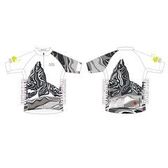 Black Tusk Men's Full Zip short sleeve cycling jersey B&W version