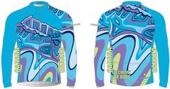 Looking South Men's Full Zip Long Sleeve Cycling Wind Jacket