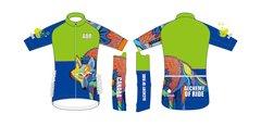 Wolf Men's Full Zip short sleeve cycling jersey