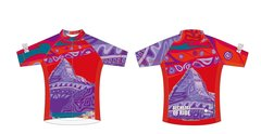 Colours of Assiniboine Ladies Full Zip short sleeve jersey. RACE FIT.