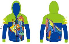 Wolf Men's Full Zip long sleeve hoody