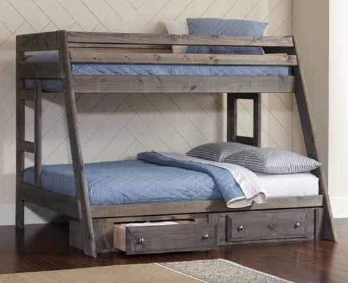 Twin Over Full Bunk Bed With Under Bed Storage Mattresses Included