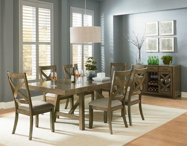 16680 5-Piece Trestle Dining Room Set \