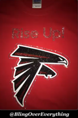 Atlanta Falcons Bling Rise Up Shirt