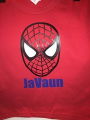 Custom Spiderman Shirt with Child's Name