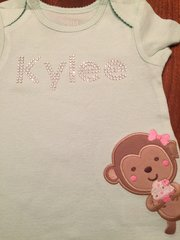 Custom Bling Baby / Infant Onesie Shirt