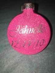 Custom Glitter Ornament