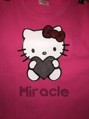 Custom Hello Kitty Shirt with Bling Name