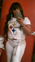 Pittsburg Steelers Custom Bling Shirt