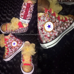 Children - All Bling Converse Chuck Taylors - Any Theme