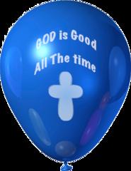 (b) God is Good Balloons - Packs of 50