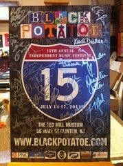 Poster for the 15th Annual Black Potatoe Music Festival 2011