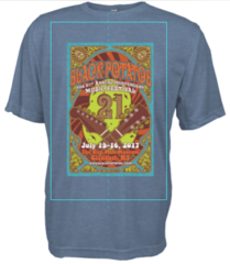 Pre-order Blue Tri-blend 2017 Black Potatoe Music Festival t-shirt