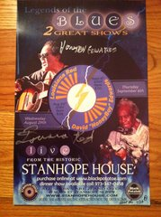 Honeyboy Edward - Louisiana Red Black Potatoe live event - signed by both