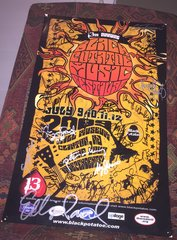 The 13th Annual Black Potatoe Music Festival 2009 Poste signed by Steve Forbert, Chris Smither, Peter Mulvey, Cheryl Wheeler, Ellis Paul and many others