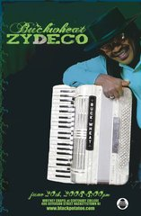 ONLY ONE LEFT!!!! Buckwheat Zydeco Black Potatoe Live - signed Poster