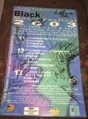 SOLD OUT!!!! the 7th Annual Black Potatoe Music Festival 2003 signed Poster - Signed by Levon Helm, Buckwheat Zydeco, Jorma Kaukonen and more