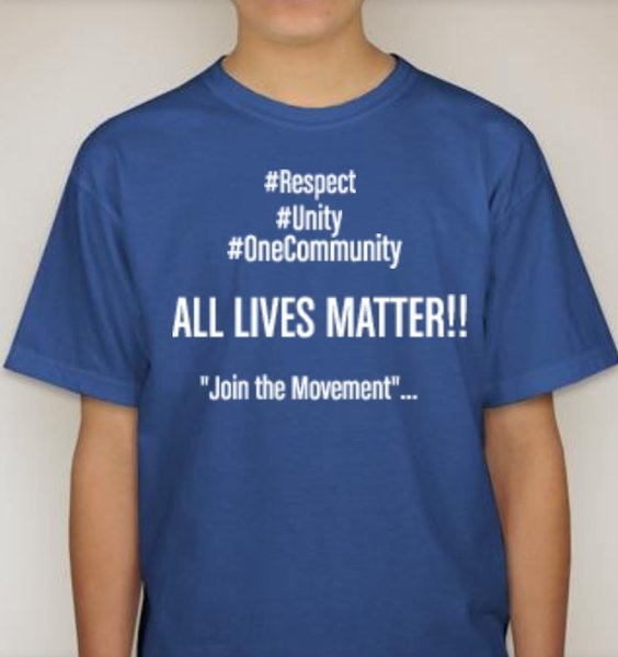 Kids all lives matter tee untucked wear for Best shirts to wear untucked