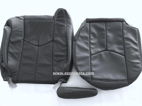 01 Silverado Sierra Complete Front Rear Seats Gray Leather Power Oem