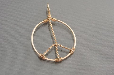 Peace sign 14k gold filled wire pendant bilindas unique wire peace sign 14k gold filled wire pendant mozeypictures Choice Image