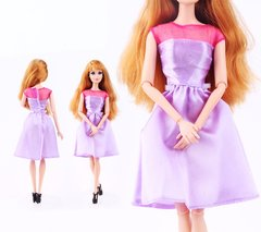 Lilac Barbie Dress-Modest Barbie Clothes-Barbie Shoes-Earrings