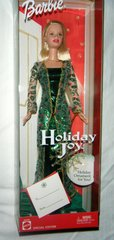 Holiday Joy Barbie-Brush-Earrings-Necklace-Sandals-Ornament