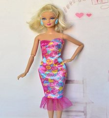 Modest Barbie Clothes-Barbie Doll Dress-Barbie Shoes-Earrings