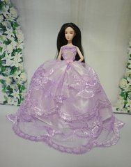 Barbie Ballgown-Modest Barbie Clothes-Barbie Shoes-Earrings