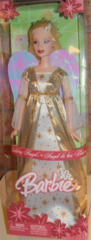 Holiday Angel Barbie Doll-Iridescent Wings-Gold Barbie Shoes