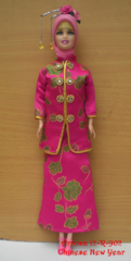 Diverse Modest Doll-Handmade Satin Outfit-Jewelry-Shoes-Scarf