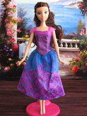 Barbie Princess Dress-Barbie Shoes-Purple Earrings