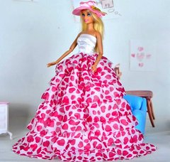 Barbie Gown-Hat-Purse-Shoes-Bracelet-Earrings