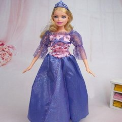 Barbie Princess Dress-Modest Barbie Clothes-Shoes-Earrings