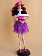 Barbie Casual Wear-Skirt-Belt-Hat-Shirt-Shawl-Purse-Shoes