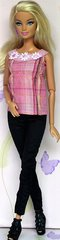 Barbie Casual Wear-Modest Barbie Outfit-Shoes-Pink Earrings