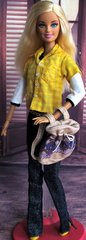Barbie Casual Wear-Two Shirts-Purse-Belt-Jeans-Shoes