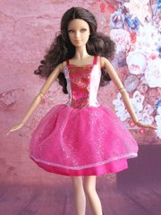 Satin Barbie Princess Dress-Modest Barbie Clothes-Earrings-Shoes