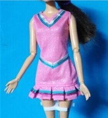 Barbie Doll Dress-Modest Barbie Clothes-Barbie Shoes-Earrings