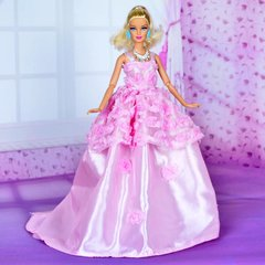 Pink Sweet Barbie Gown-Purse-Shoes-Jewelry Set