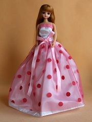 Lovely Barbie Ballgown-Purse-Barbie Shoes-Earrings