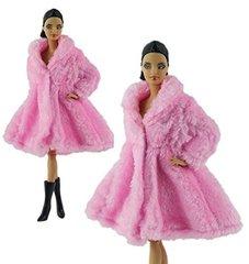 Pink Barbie Fur Coat-Modest Barbie Clothes