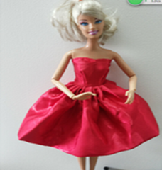 Satin Holiday Barbie Dress-Fancy Red Barbie Shoes-Earrings